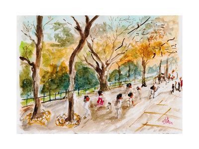 Watercolor Forest Garden-jim80-Art Print