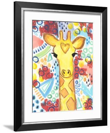 Watercolor - Giraffe-Jennifer McCully-Framed Giclee Print
