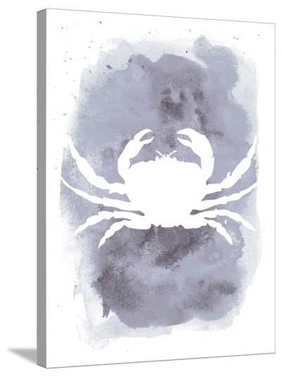 Watercolor Gray Crab-Jetty Printables-Stretched Canvas Print