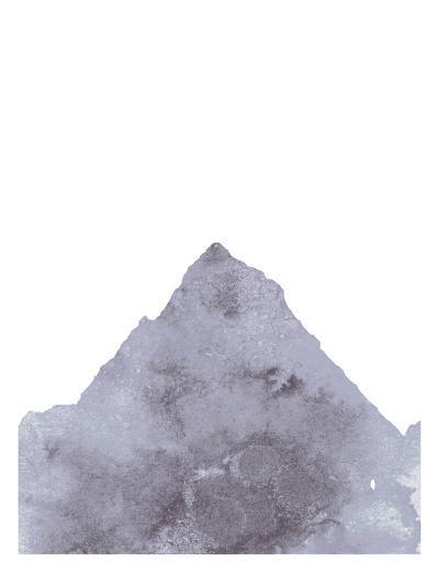 Watercolor Gray Mountain 1-Jetty Printables-Art Print