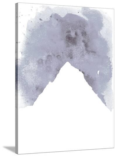 Watercolor Gray Mountain-Jetty Printables-Stretched Canvas Print