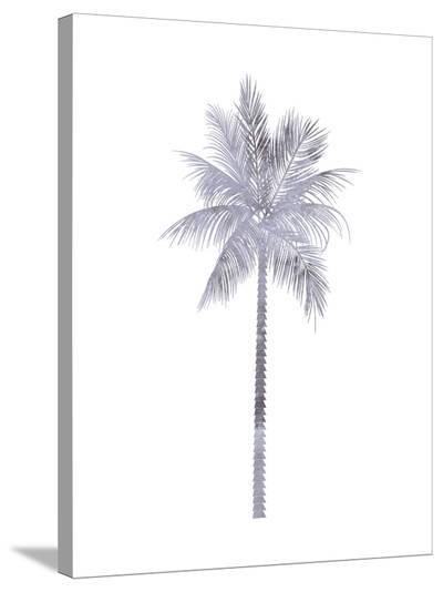 Watercolor Gray Palm-Jetty Printables-Stretched Canvas Print