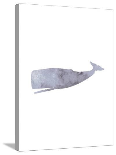 Watercolor Grey Whale-Jetty Printables-Stretched Canvas Print