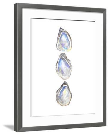 Watercolor Gulf Oyster Tri-Jetty Printables-Framed Art Print