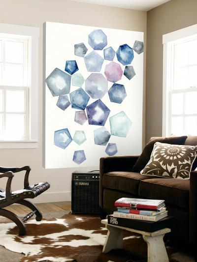 Watercolor Hexagons A-Natasha Marie-Loft Art