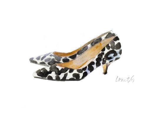 Watercolor Kitten Heels III-Lanie Loreth-Art Print