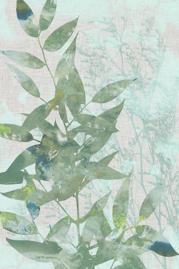 Watercolor Leaf Panel I-Jennifer Goldberger-Art Print