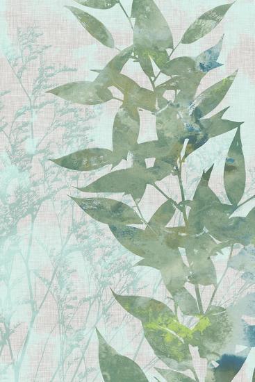 Watercolor Leaf Panel II-Jennifer Goldberger-Art Print