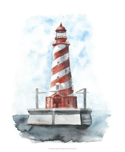Watercolor Lighthouse IV-Naomi McCavitt-Giclee Print