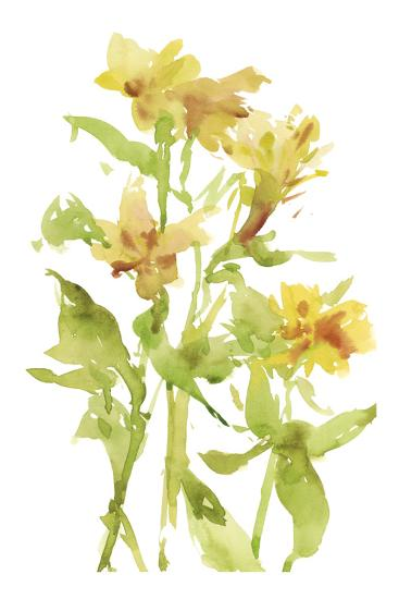 Watercolor Lilies II-Melissa Wang-Art Print