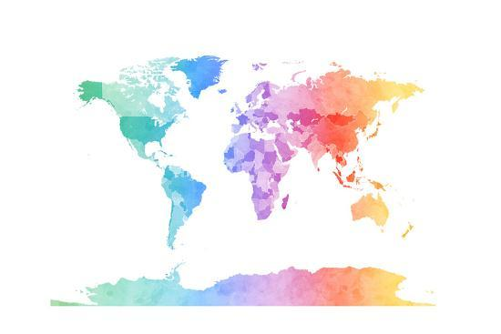 The Best Labor Day Sales: Glam World Map Wall Art Canvas Art ...
