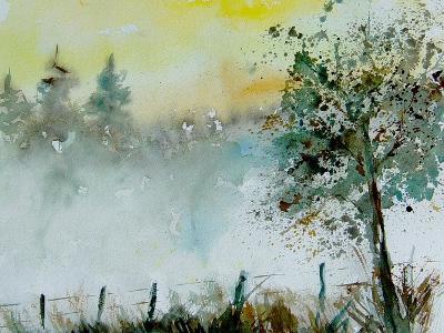 Watercolor Mist-Pol Ledent-Art Print