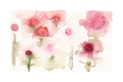 Watercolor Painting of Abstract Flowers--Art Print