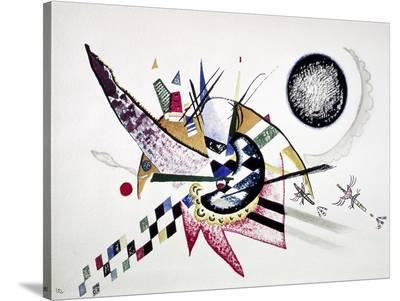 Watercolor Painting of Composition-Wassily Kandinsky-Stretched Canvas Print