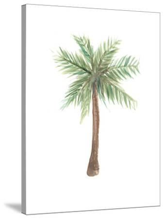 image regarding Palm Tree Printable titled Watercolor Palm Tree Stretched Canvas Print via Jetty Printables