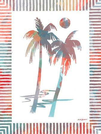 Watercolor Palms I-Nicholas Biscardi-Framed Art Print