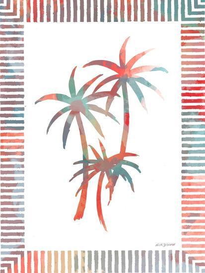Watercolor Palms III-Nicholas Biscardi-Art Print