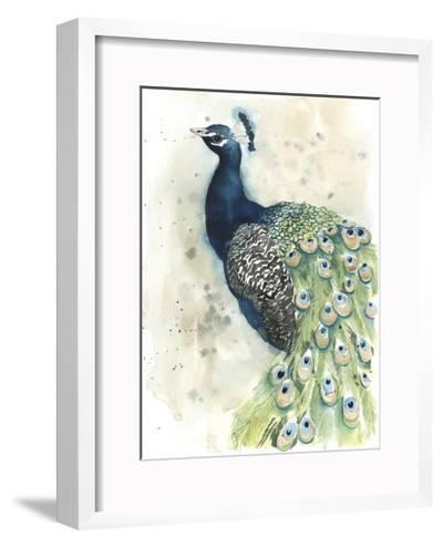 Watercolor Peacock Portrait II-Grace Popp-Framed Art Print