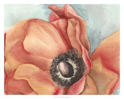 Watercolor Poppy I-Megan Meagher-Art Print