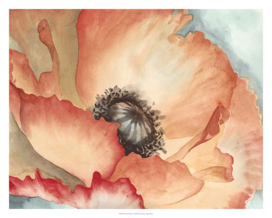 Watercolor Poppy II-Megan Meagher-Art Print