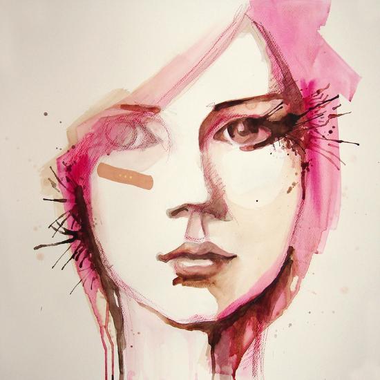Watercolor Portrait of Beautiful Girl | Handmade | Self Made | Painting- re_bekka-Art Print