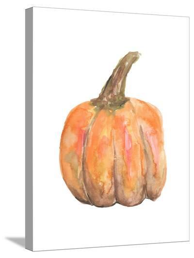 Watercolor Pumpkin-Jetty Printables-Stretched Canvas Print