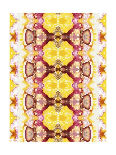 Watercolor Quilt V-Jennifer Goldberger-Art Print