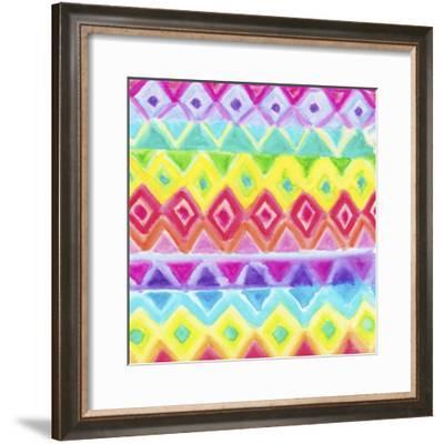 Watercolor Rainbow Rows-Hello Angel-Framed Giclee Print