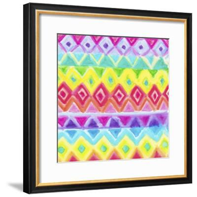 Watercolor Rainbow Rows-Hello Angel-Framed Giclee Print