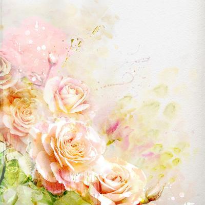 Watercolor Roses-Guz Anna-Art Print