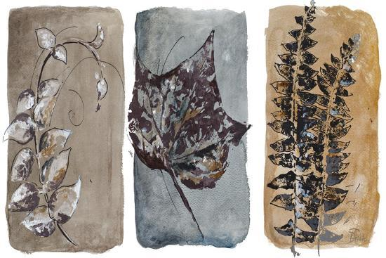 Watercolor Sepia Leaves I-Patricia Pinto-Art Print