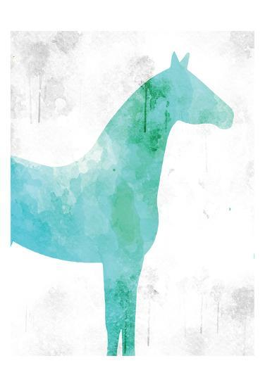 Watercolor Silhouette 5-Kimberly Allen-Art Print