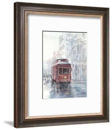 Watercolor Streetcar Study II-Ethan Harper-Framed Art Print