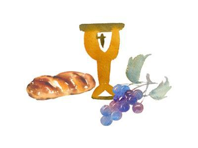 Watercolor Style of Communion Items