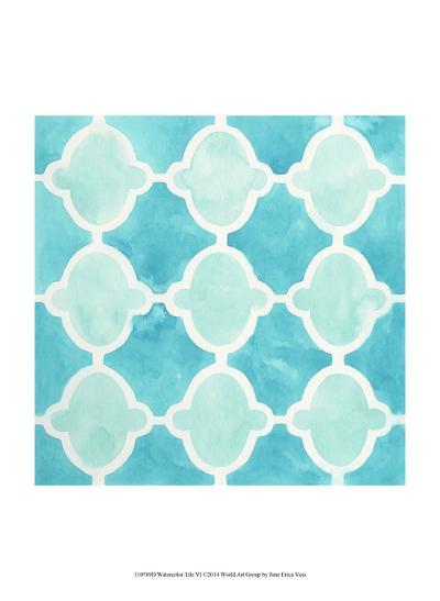 Watercolor Tile VI-June Erica Vess-Art Print