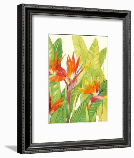 Watercolor Tropical Flowers IV-Tim OToole-Framed Art Print