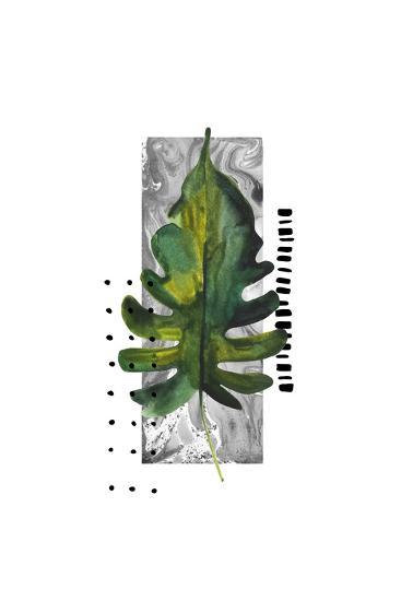 Watercolor Tropical Leaf Illustration in Minimal Style-tanycya-Art Print