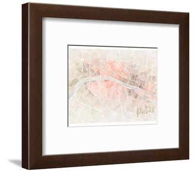 Watercolor Wanderlust Paris Blush Crop-Laura Marshall-Framed Art Print
