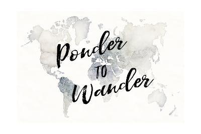 Watercolor Wanderlust Ponder-Laura Marshall-Art Print