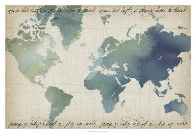 Watercolor World Map-Grace Popp-Art Print