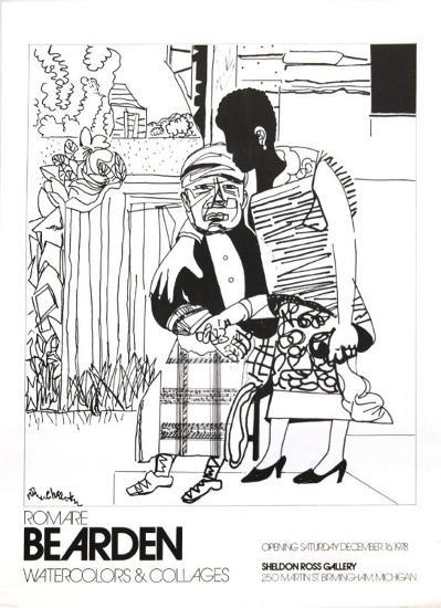 Watercolors and Collages, 1978, unsigned-Romare Bearden-Collectable Print