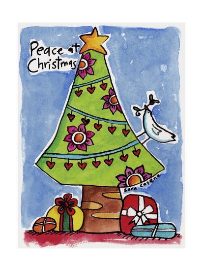 Watercolour Planet - Christmas Peace-Sara Catena-Giclee Print