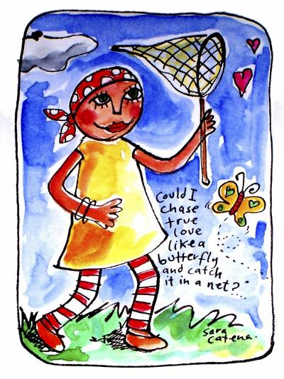 Watercolour Planet - Finding Love 2-Sara Catena-Giclee Print