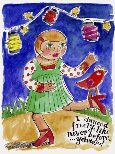 'Watercolour Planet - I Danced-Sara Catena-Giclee Print
