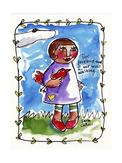 Watercolour Planet - Me and My Lovebird #2-Sara Catena-Giclee Print