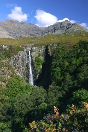 Waterfall Above Glen Brittle, Cuillin Hills, Isle of Skye, Highland, Scotland-Peter Thompson-Photographic Print