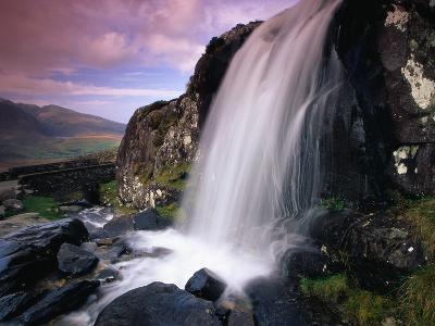 Waterfall and Jagged Rocks in the Irish Countryside-Richard Cummins-Photographic Print