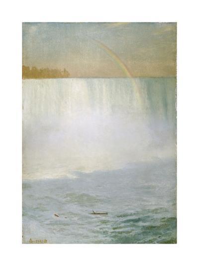 Waterfall and Rainbow, Niagara-Albert Bierstadt-Giclee Print