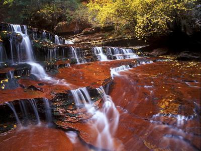 Waterfall at Zion National Park, Utah-Keith Ladzinski-Photographic Print