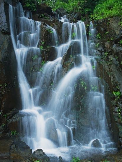 Waterfall Cascading over Rocks-Jagdish Agarwal-Photographic Print